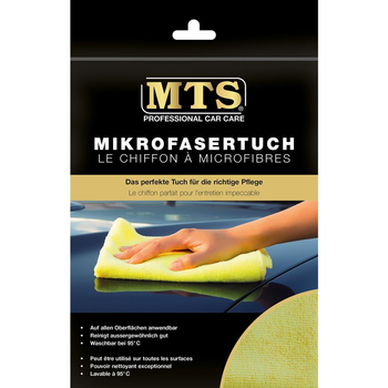 MTS Mikrofasertuch, Gelb, 40 x 40 cm