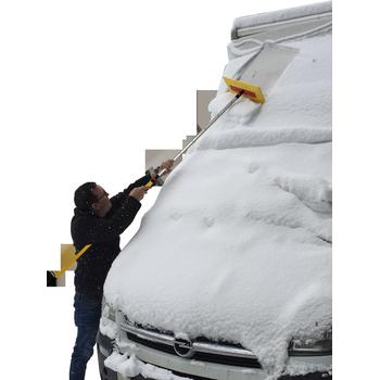 MTS Pro Snowblade, Schneeschaber komplett mit Pro Teleskopstiel