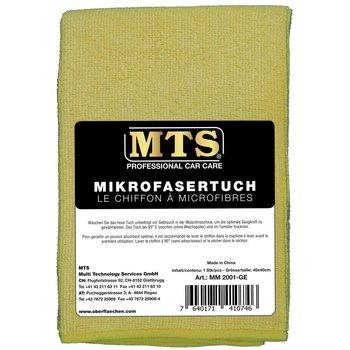MTS Mikrofasertuch, Hellgelb, 40 x 40 cm