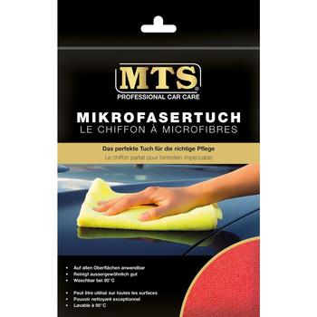 MTS Mikrofasertuch, Frottéegewebe, Rot, 40 x 40 cm