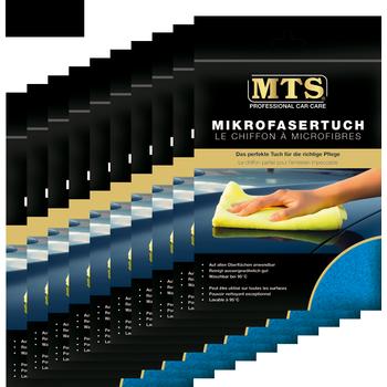 MTS Mikrofasertuch, Frottéegewebe, Blau, 40 x 40 cm, 10-er Pack
