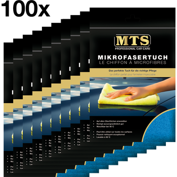 MTS Mikrofasertuch, Frottéegewebe, Blau, 40 x 40 cm, 100 Stück