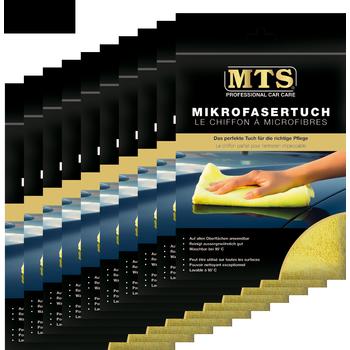 MTS Mikrofasertuch, Frottéegewebe, Gelb, 40 x 40 cm, 10-er Pack