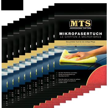 MTS Mikrofasertuch, Frottéegewebe, Rot, 40 x 40 cm, 10-er Pack