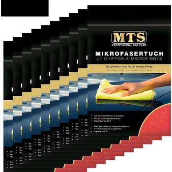 MTS Mikrofasertuch, Frottéegewebe, Rot, 40 x 40 cm, 100-er Pack