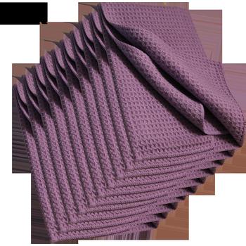 MTS Mikrofaser Waffeltuch, Violett, 40 x 40 cm, 10-er Pack