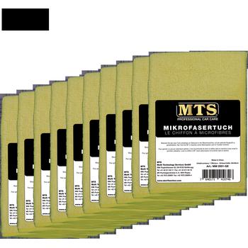MTS Mikrofasertuch, Hellgelb, 40 x 40 cm, 10-er Pack