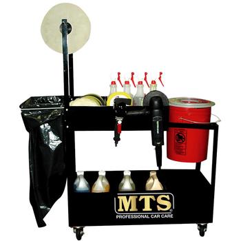 MTS Polierwagen aus Stahl inkl. Papier- & Sackhalter